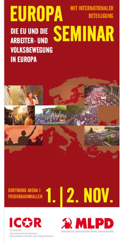 Europa-Seminar: Die EU und die Arbeiter- und Volksbewegung in Europa (Flyer)
