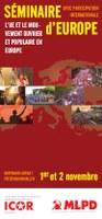 Dépliant du Séminaire commun de l'Europe de ICOR et MLPD Allemagne