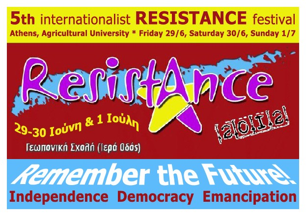 5th Internationalist RESISTANCE Festival poster
