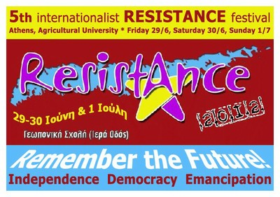 5th Internationalist RESISTANCE Festival