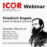 3 days left until the ICOR webinar on Friedrich Engels